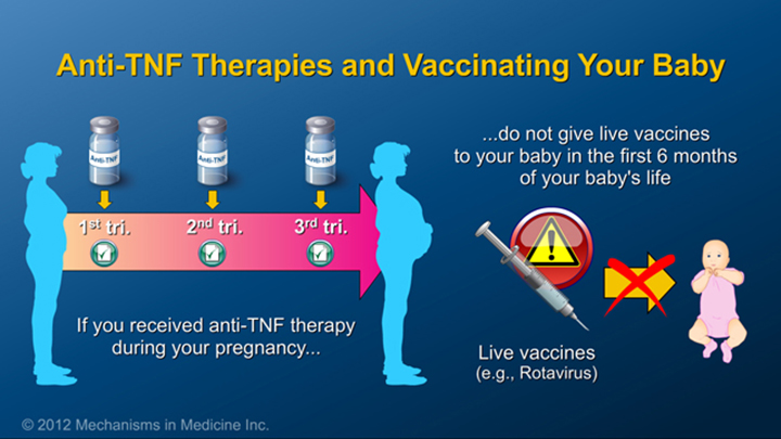 IBD Therapy and Vaccinating Baby