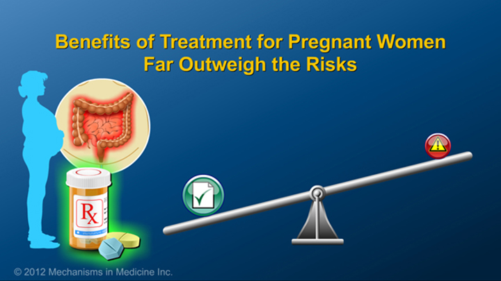 IBD Treatment Benefits while Pregnant